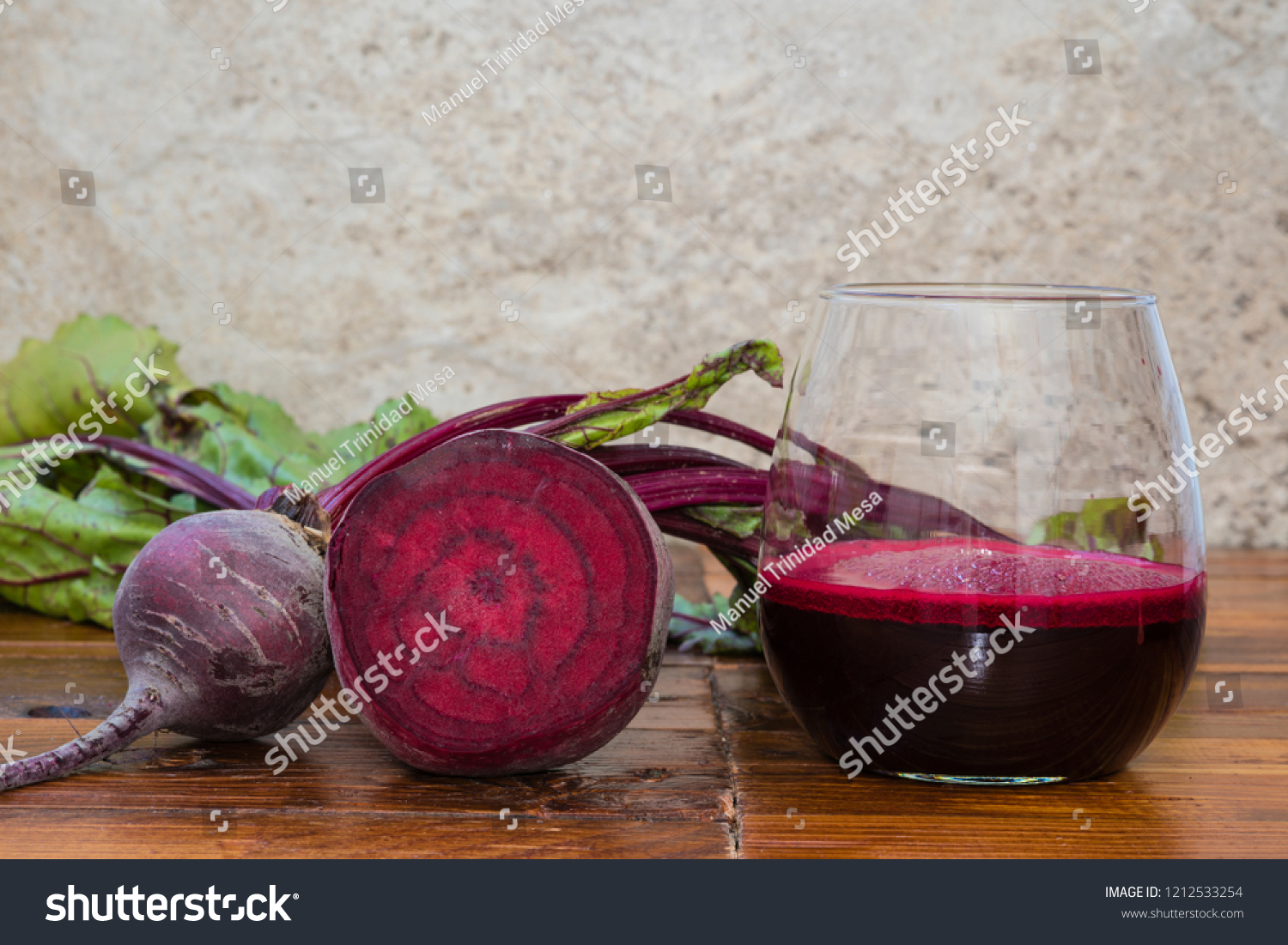 Beet juice in glass