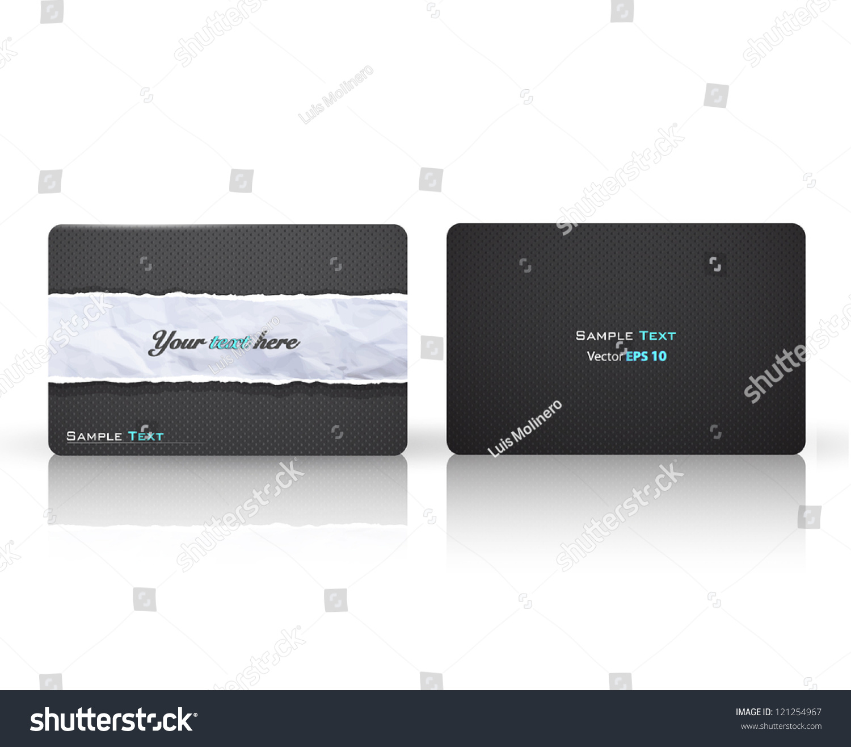 Elegant Texture Printed Business Card Stock Vector