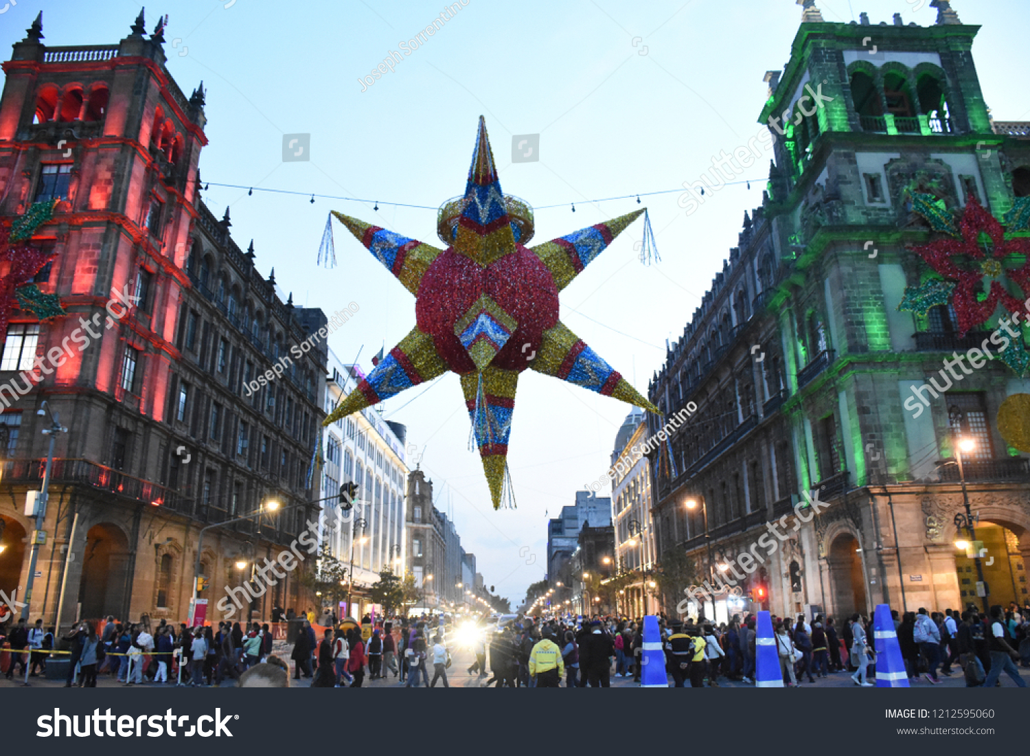 Images Of Zocalo In Mexico Christmas 2021 Giant Hanging Mexico Citys Zocalo Christmas Stock Photo Edit Now 1212595060
