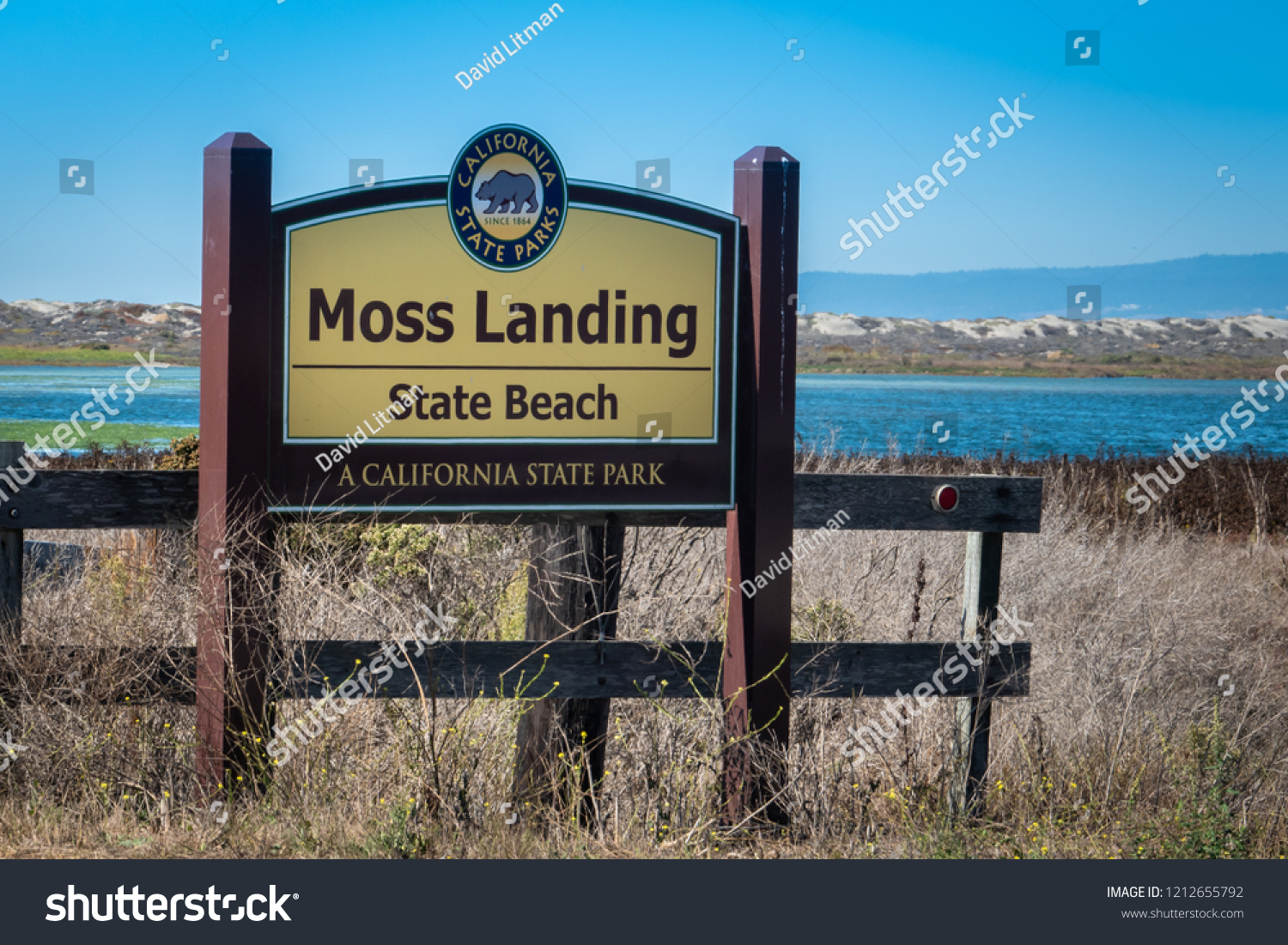Monterey, California - October 16, 2018: Moss Landing State Beach is located along the Monterey Bay in central California.