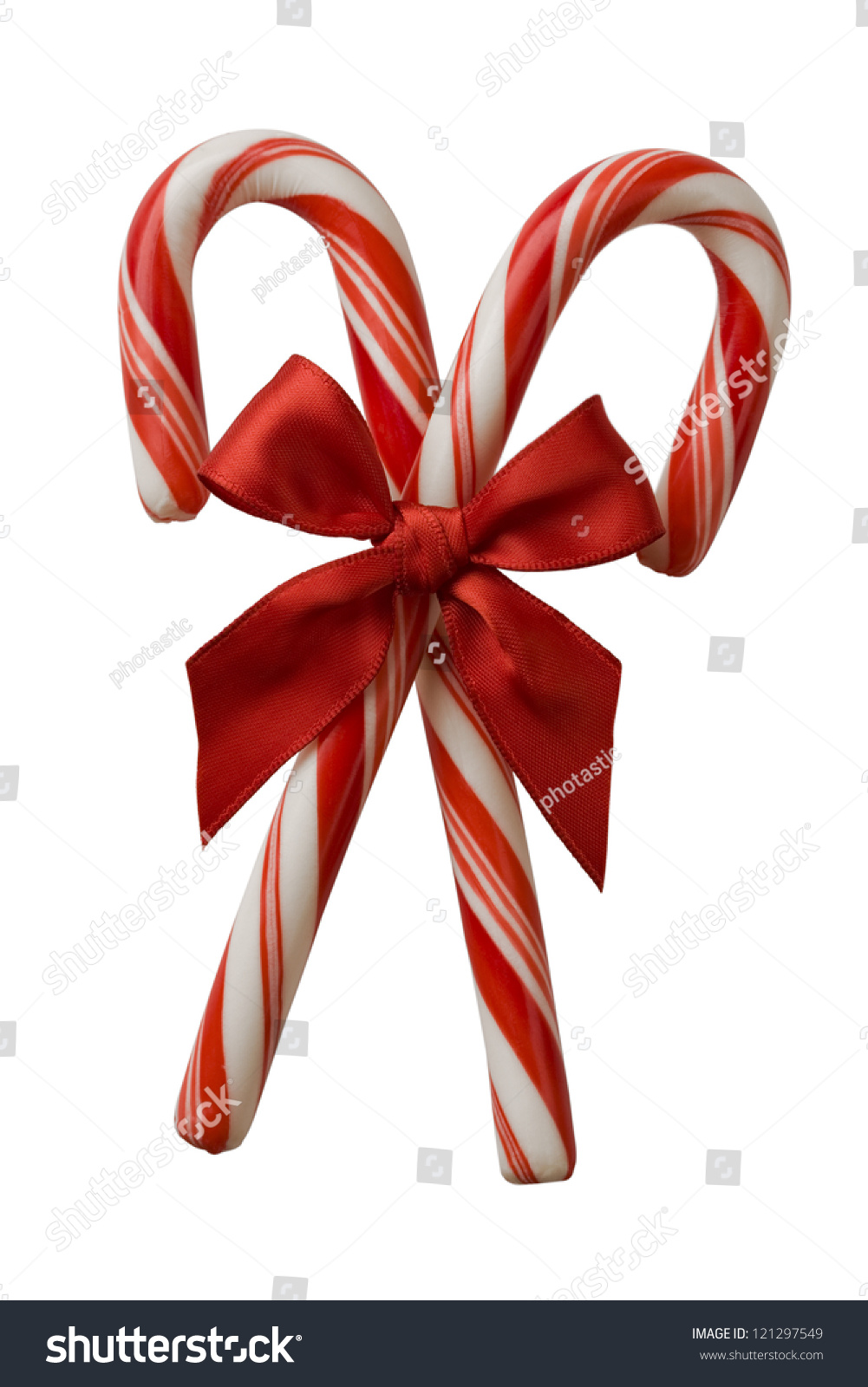 three striped candy canes read