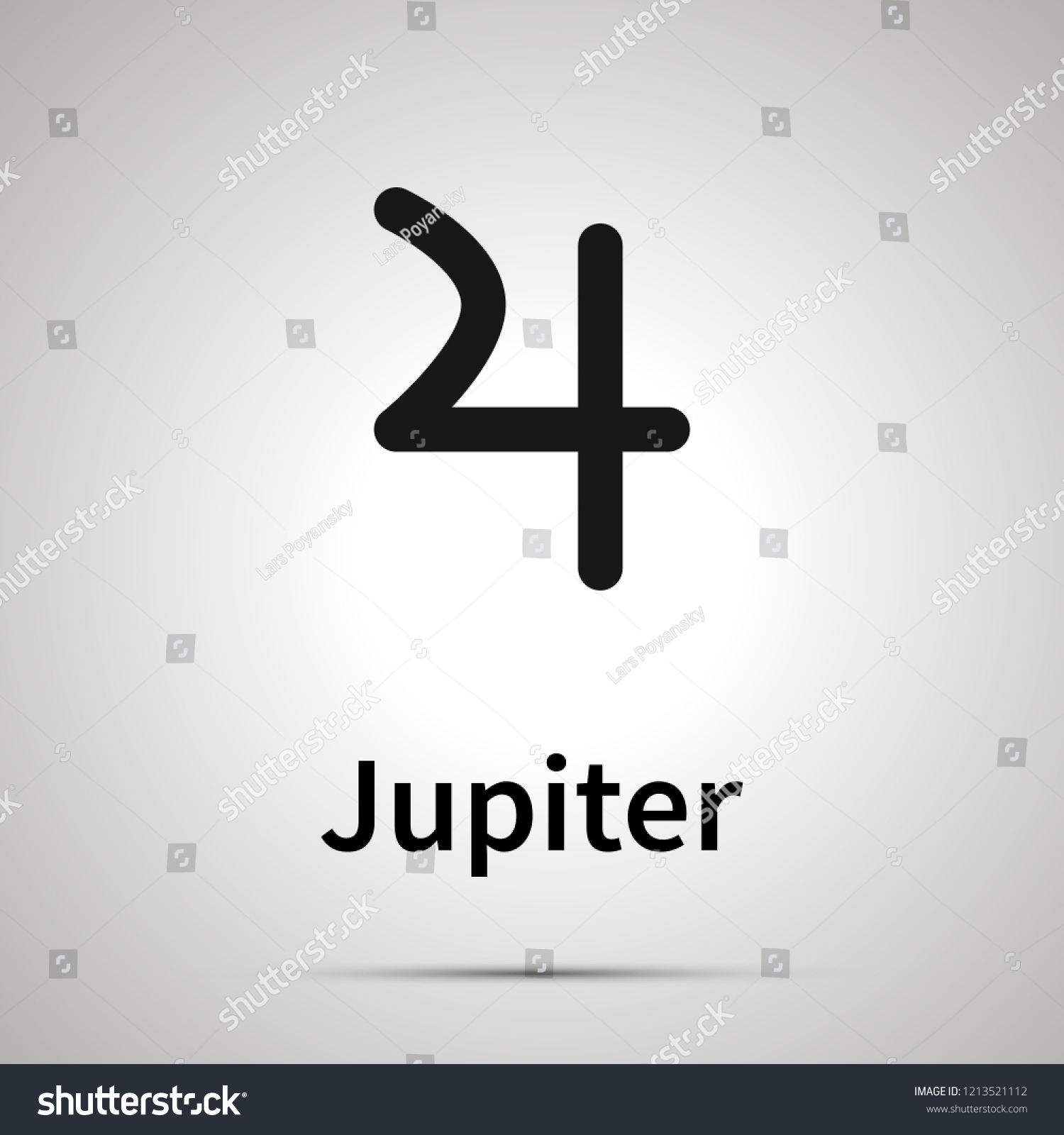 Jupiter Astronomical Sign Simple Black Icon Stock Vector (Royalty