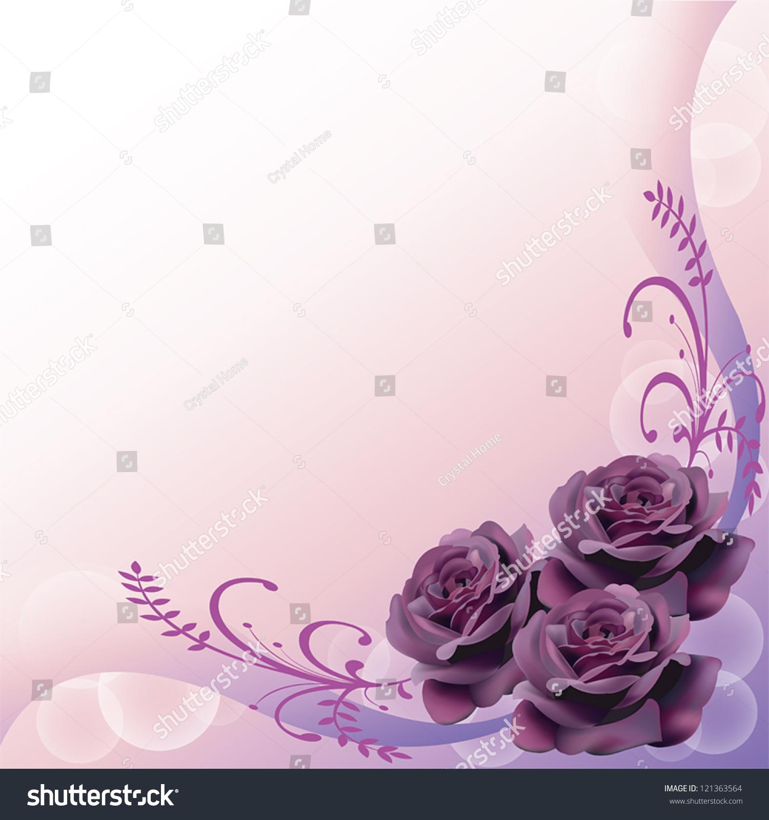 elegant purple page borders