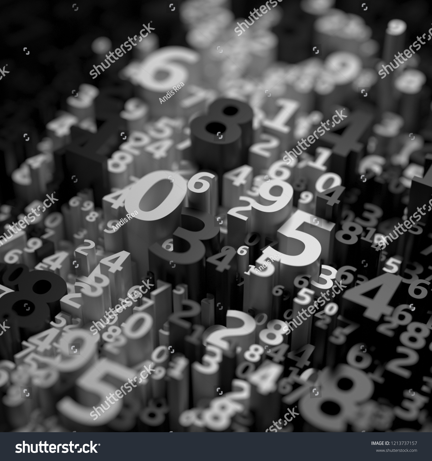 Abstract 3 D Numbers Background Computer Science Stock Illustration Circuitry Of An Electronic Calculator Royalty Free Photography 1213737157 Shutterstock
