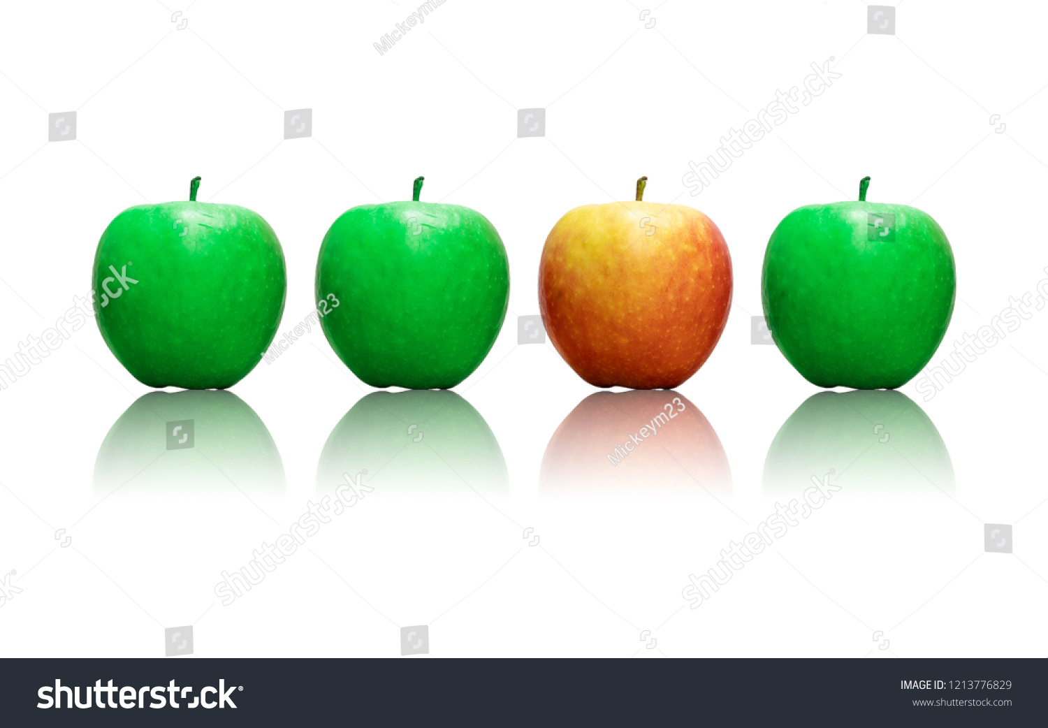 four apples row three being green stock photo edit now 1213776829