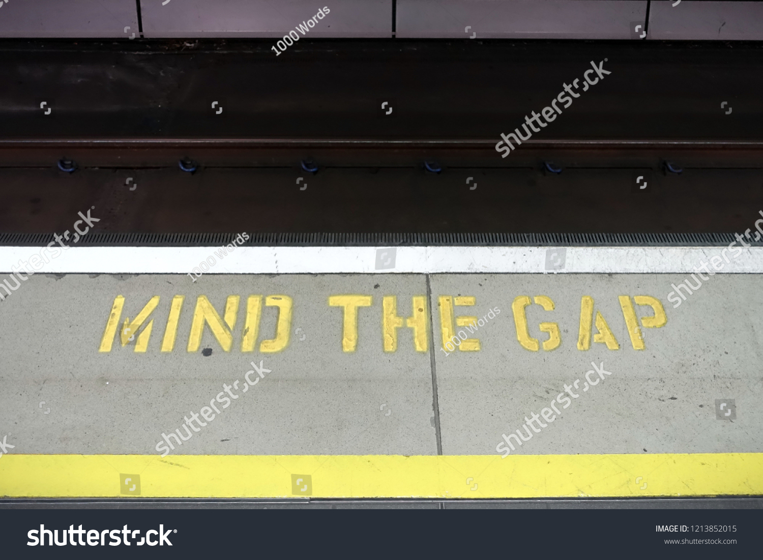 View Mind Gap Notice On Train Stock Photo (Edit Now) 1213852015