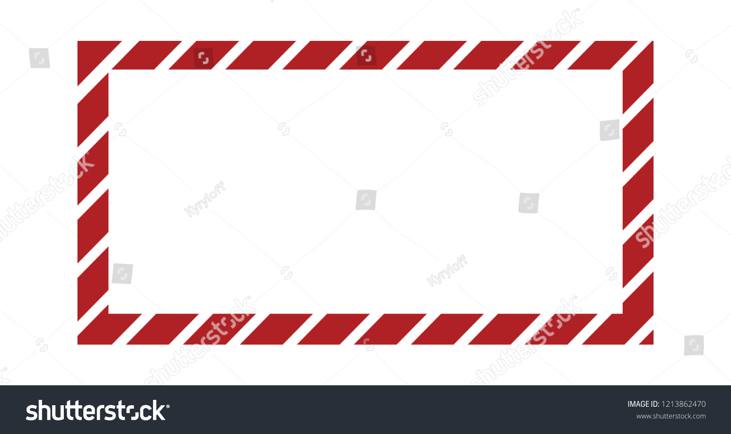 christmas or new year frame with striped candy pattern vector template with copy space