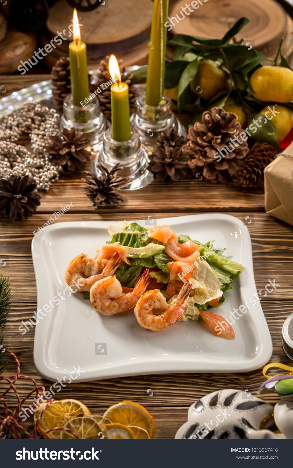 Seafood Green Salad Salmon Avocado ...