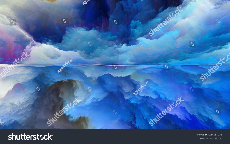 Dream Land Series Composition Digital Colors Stock Illustration 1214088004