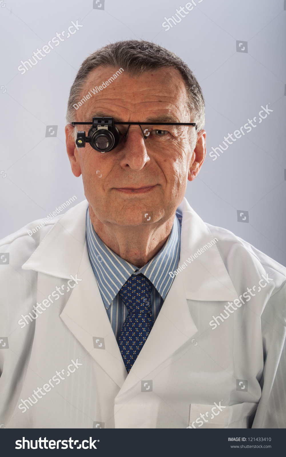 Older Male Wearing White Lab Coat Stock Photo Edit Now 121433410 Mobile Phone Repair In Electronic Working Place Royalty Free An A And Repairing Equipments Like Technician