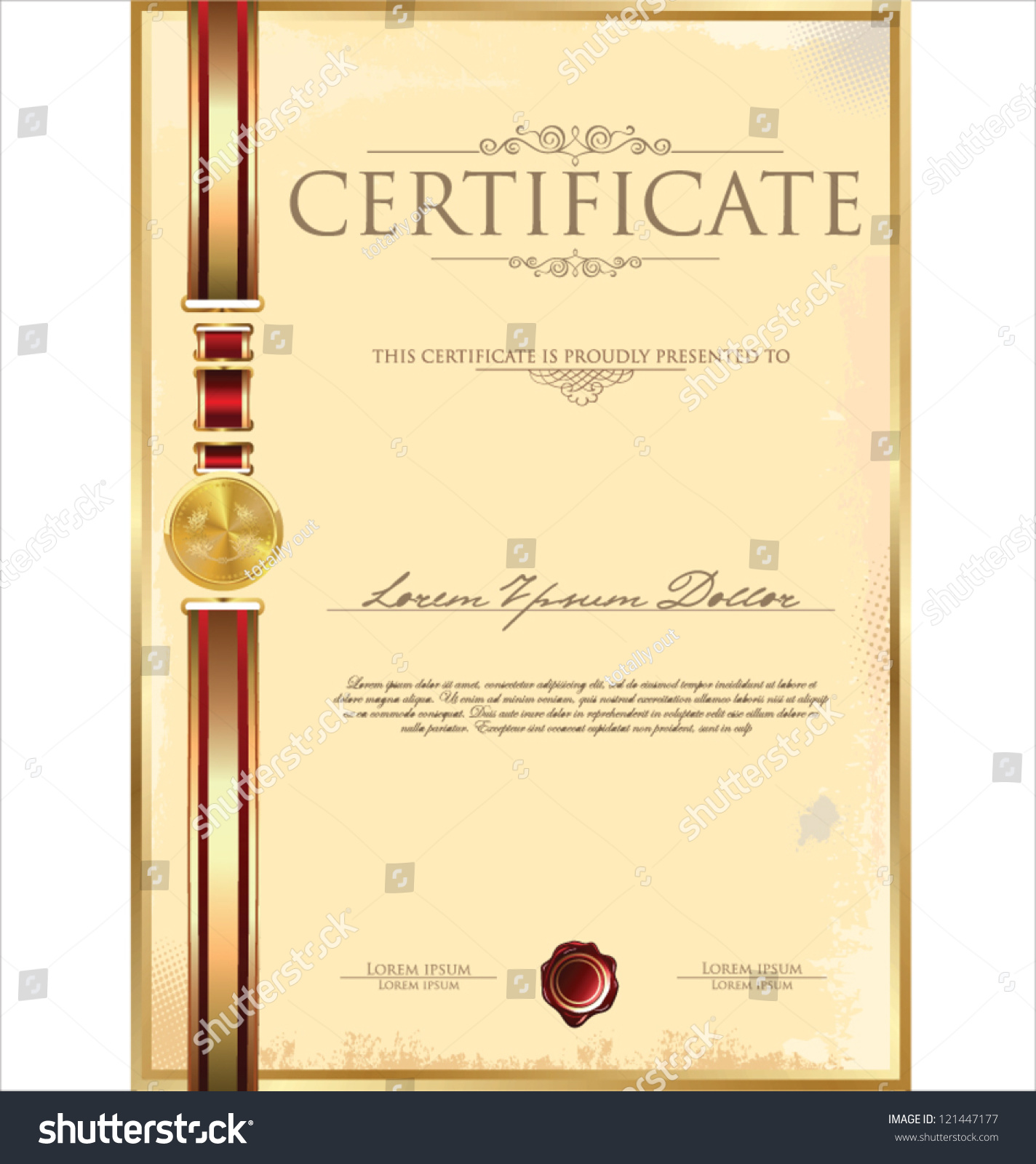 certificate template stock vector 121447177 shutterstock certificate template