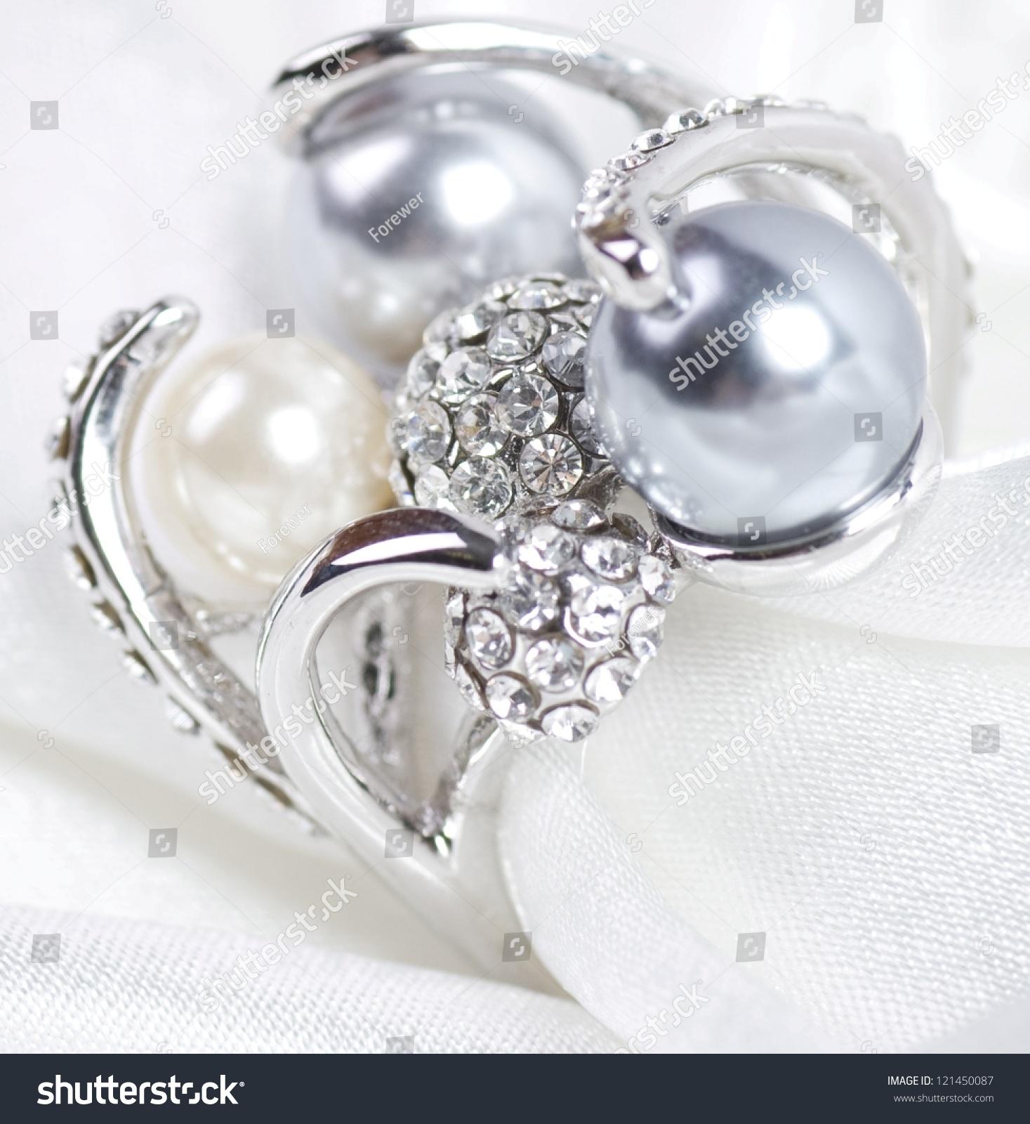 Beautiful Jewelry On Background Stock Photo 121450087