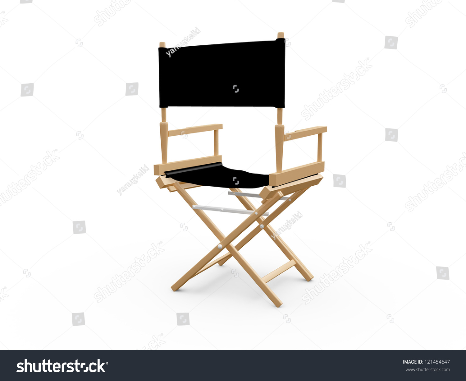 Back of director chairs - Back View Of Directors Chair In Film Industry Isolated On White Background