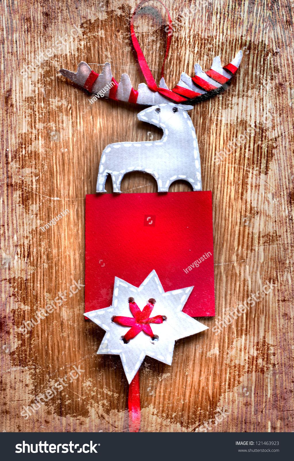 Christmas decoration over grunge background vintage paper christmas decoration with a sign and - Grune dekoration ...