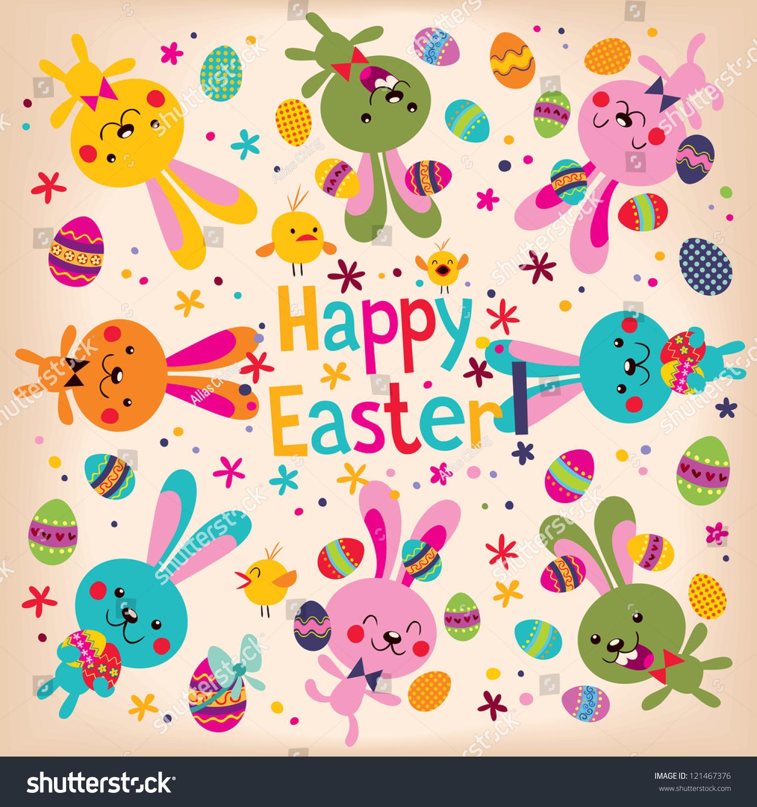 Happy Easter Stock Illustration 121467376 - Shutterstock