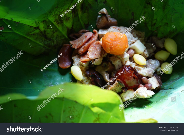 Dim Sum Menu Steamed Sticky Rice Stock Photo Edit Now 1214726596