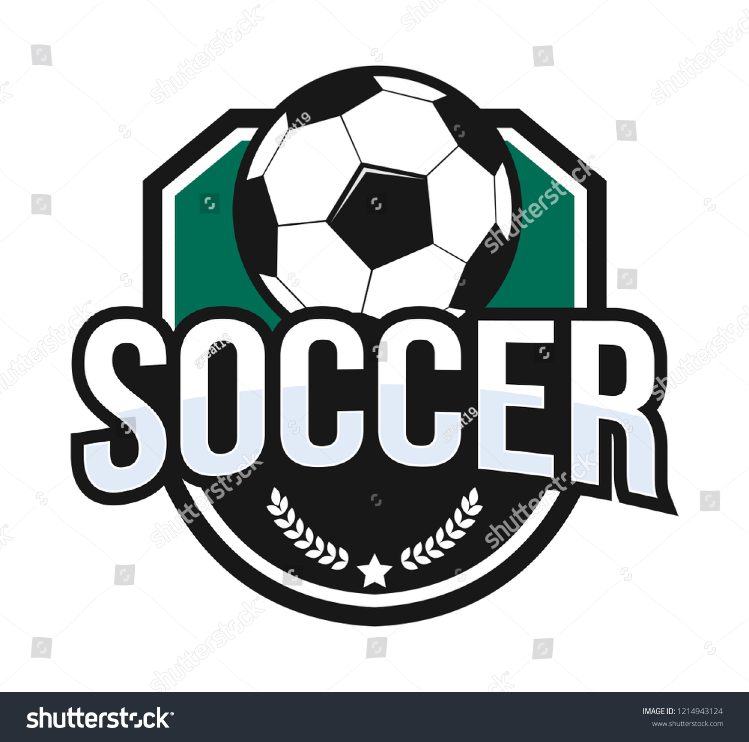 soccer football crest emblem vector logo stock vector royalty free