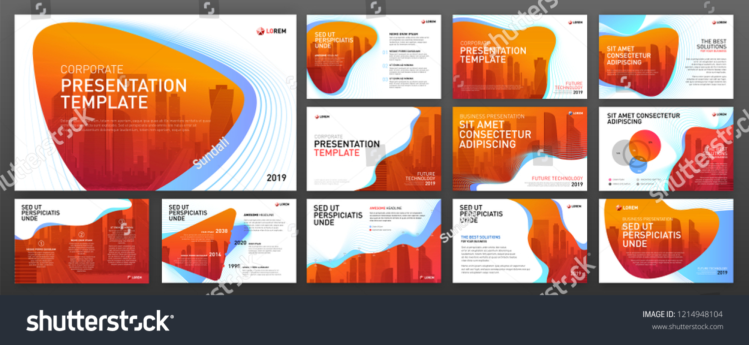 powerpoint presentation templates set keynote presentation stock
