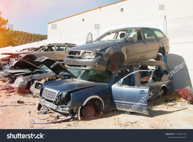 Graveyard Cars Broken Cars Sell On Stock Photo Edit Now 1215056146