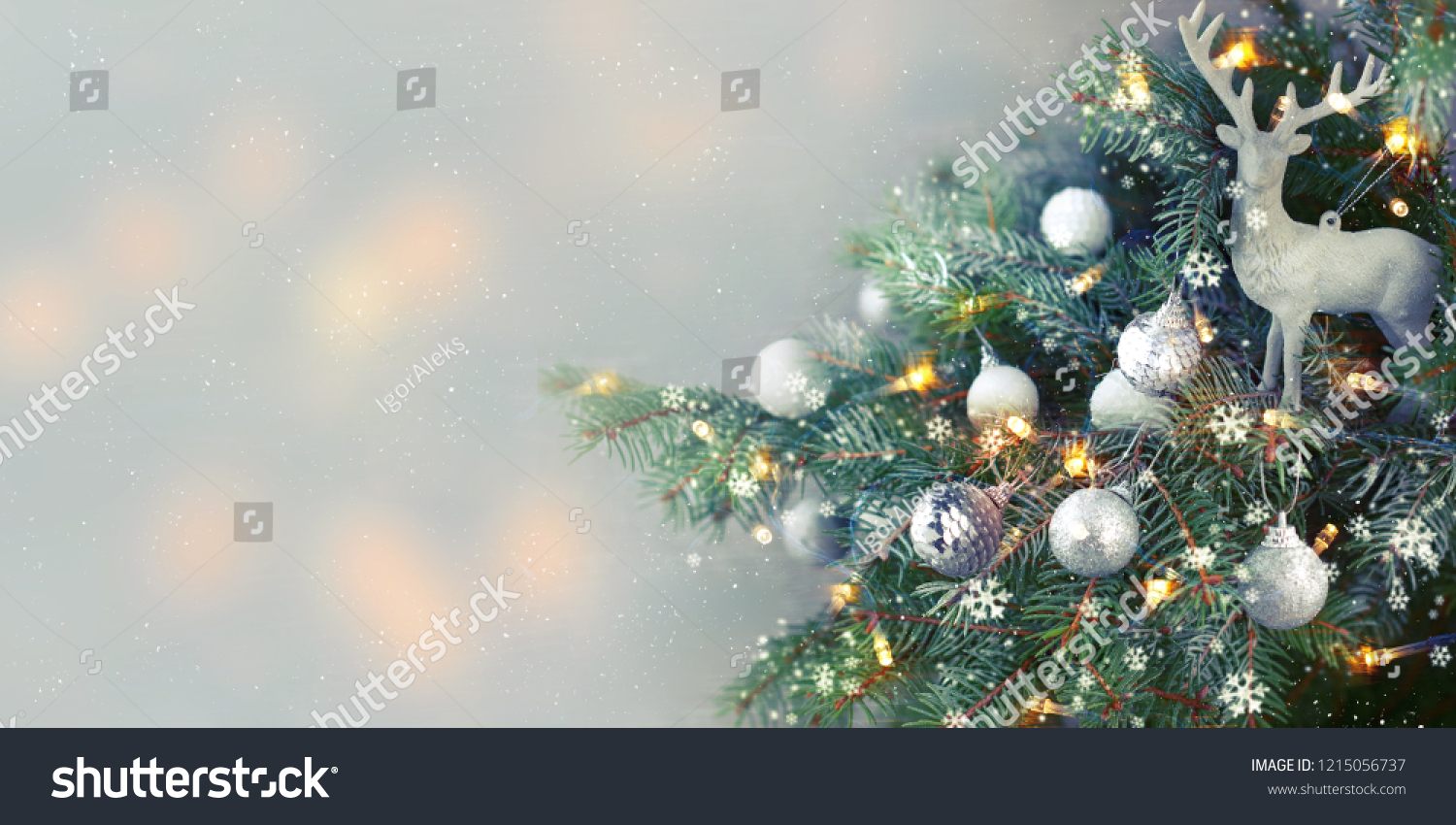 Closeup of Christmas-tree background #1215056737