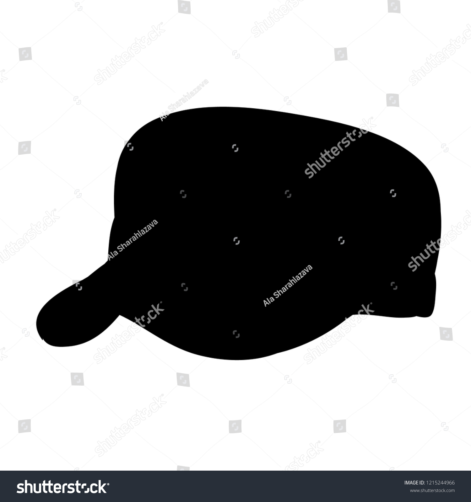 White Background Black Silhouette Mans Hat Stock Vector (Royalty ... ccb2766b360