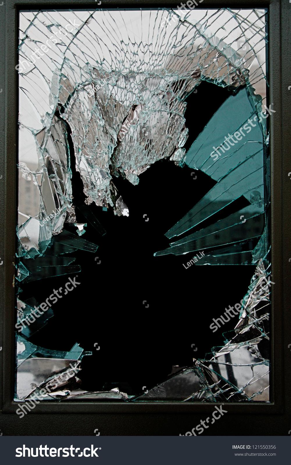 Broken glass door shop stock photo royalty free 121550356 broken glass door of the shop planetlyrics Image collections