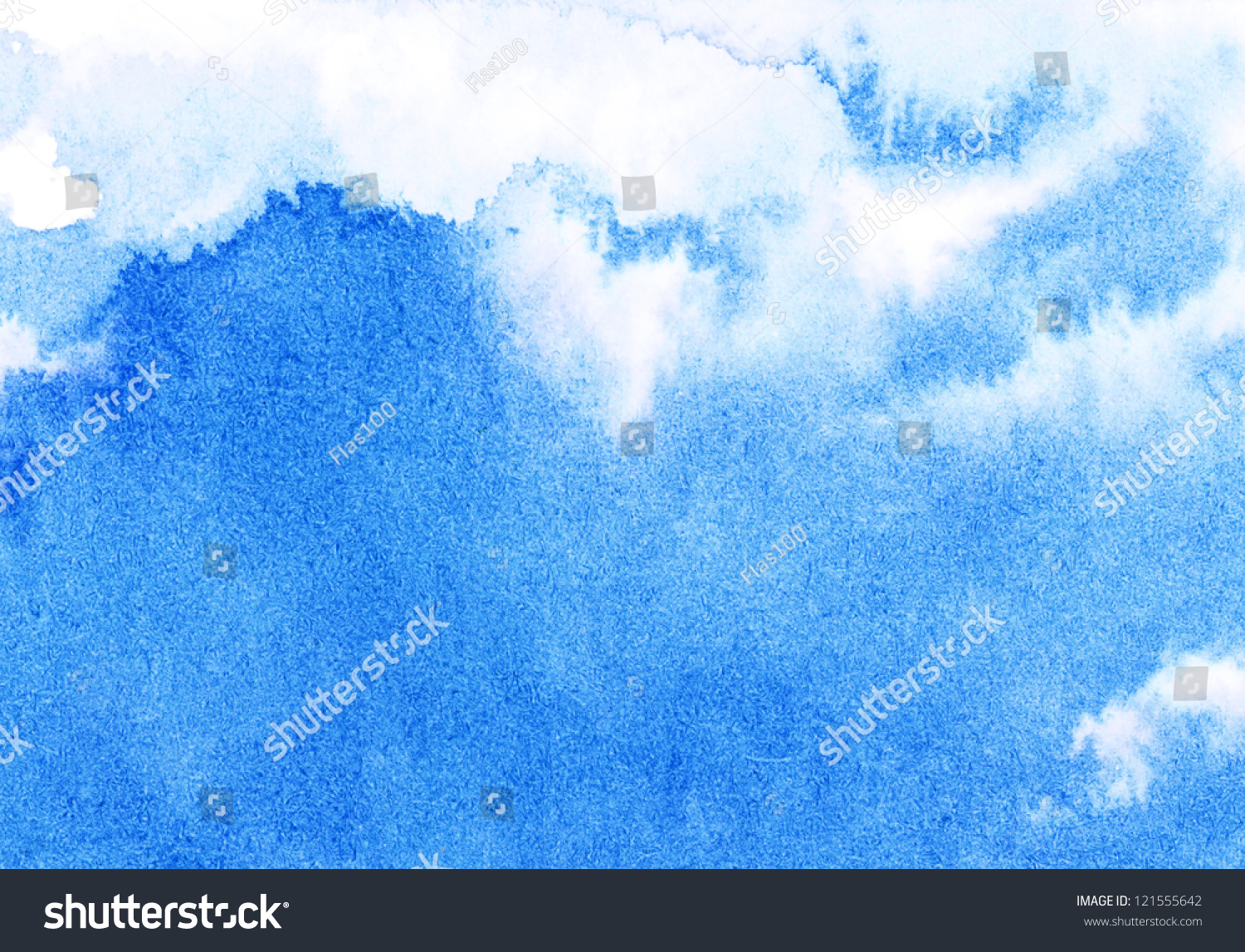 Abstract Watercolor Sky Stock Illustration 121555642 ...