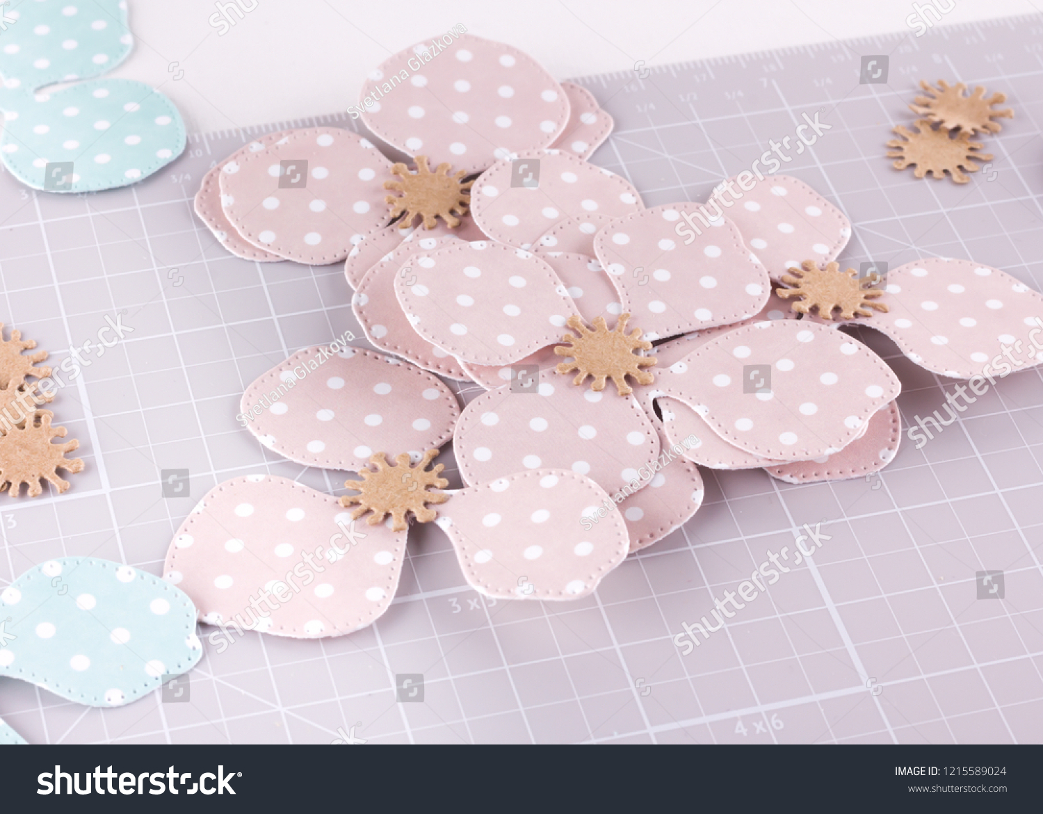 Making Diy Project Paper Decoration Craft Stock Photo Edit Now