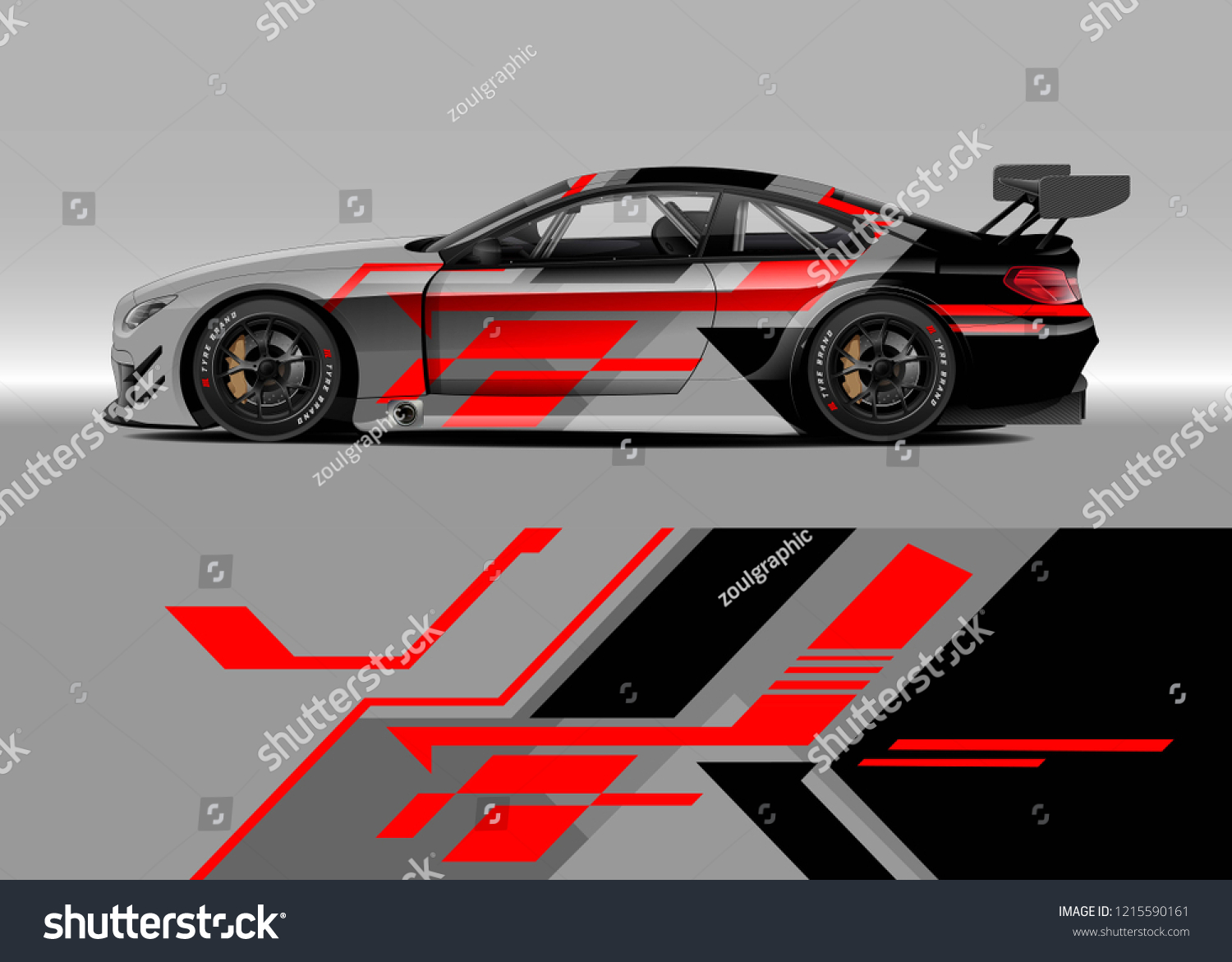 Racing car wrap design vector graphic abstract stripe racing background kit designs for wrap vehicle