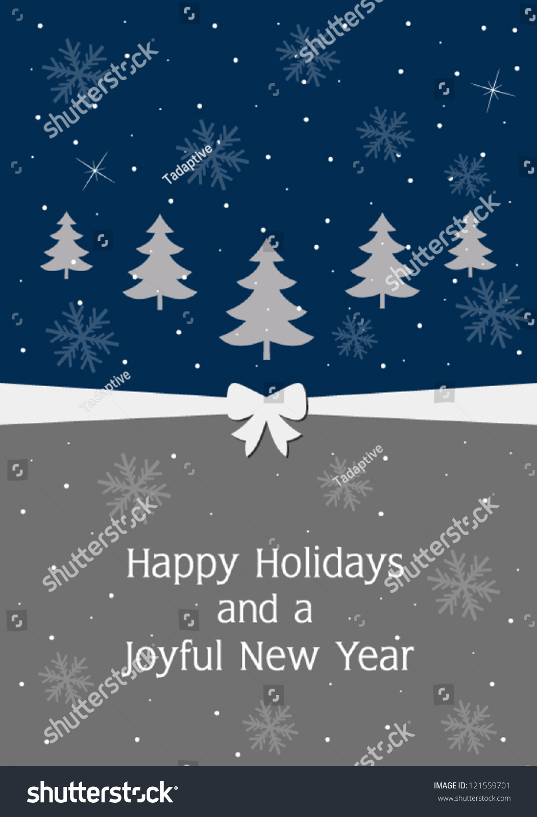 Happy Holidays And Joyful New Year Greeting Card Ez Canvas
