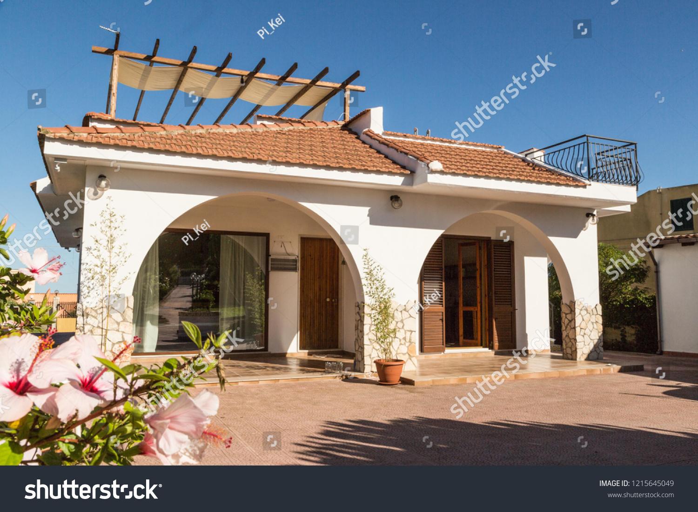 Interior Exterior Design Mediterranean Villa Terraces Stock
