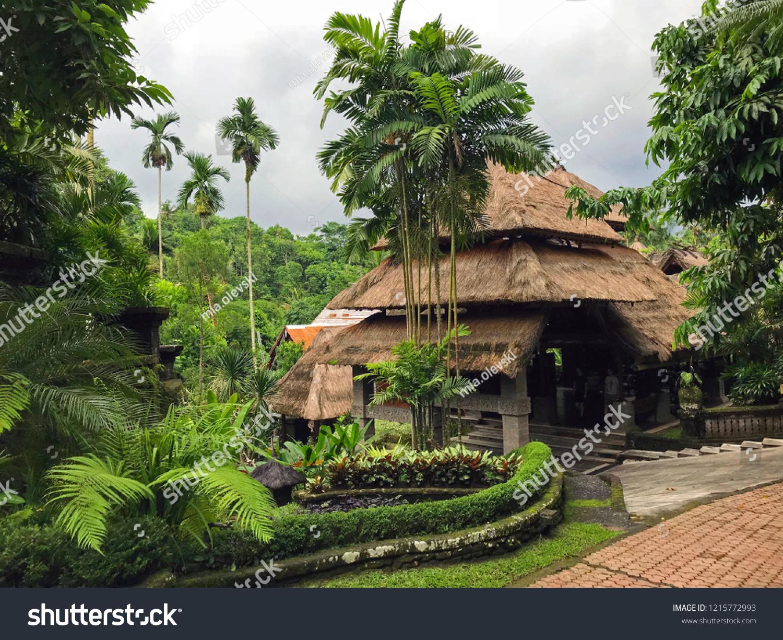 Bali Landscape House Wooden Hut Palm Stock Photo Edit Now