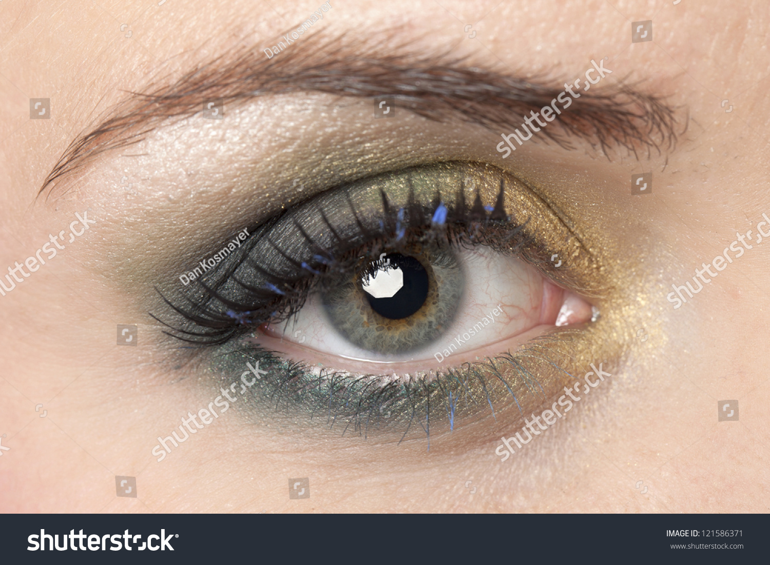 Image Of A Woman With The Camera Focused On Her Eye Make ...