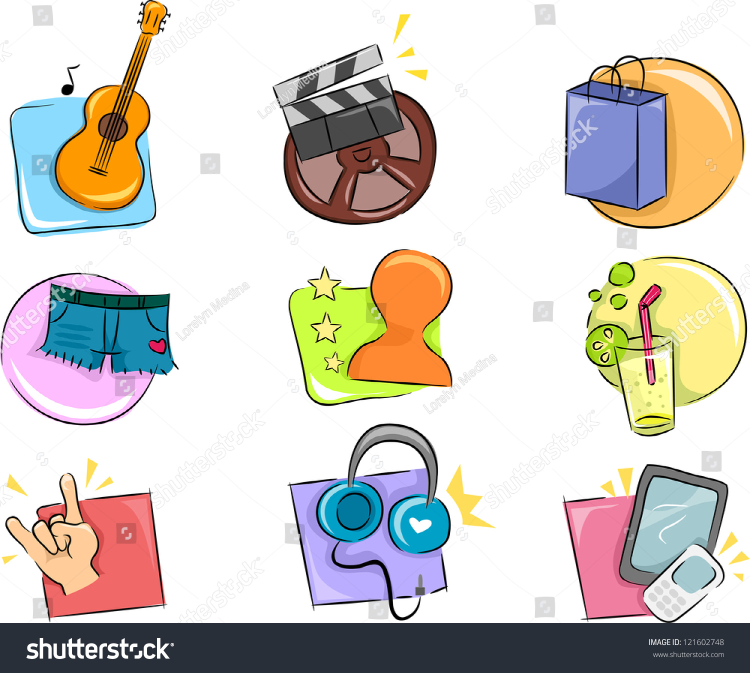 illustration different hobbies interests icon design stock vector illustration of different hobbies and interests icon design elements