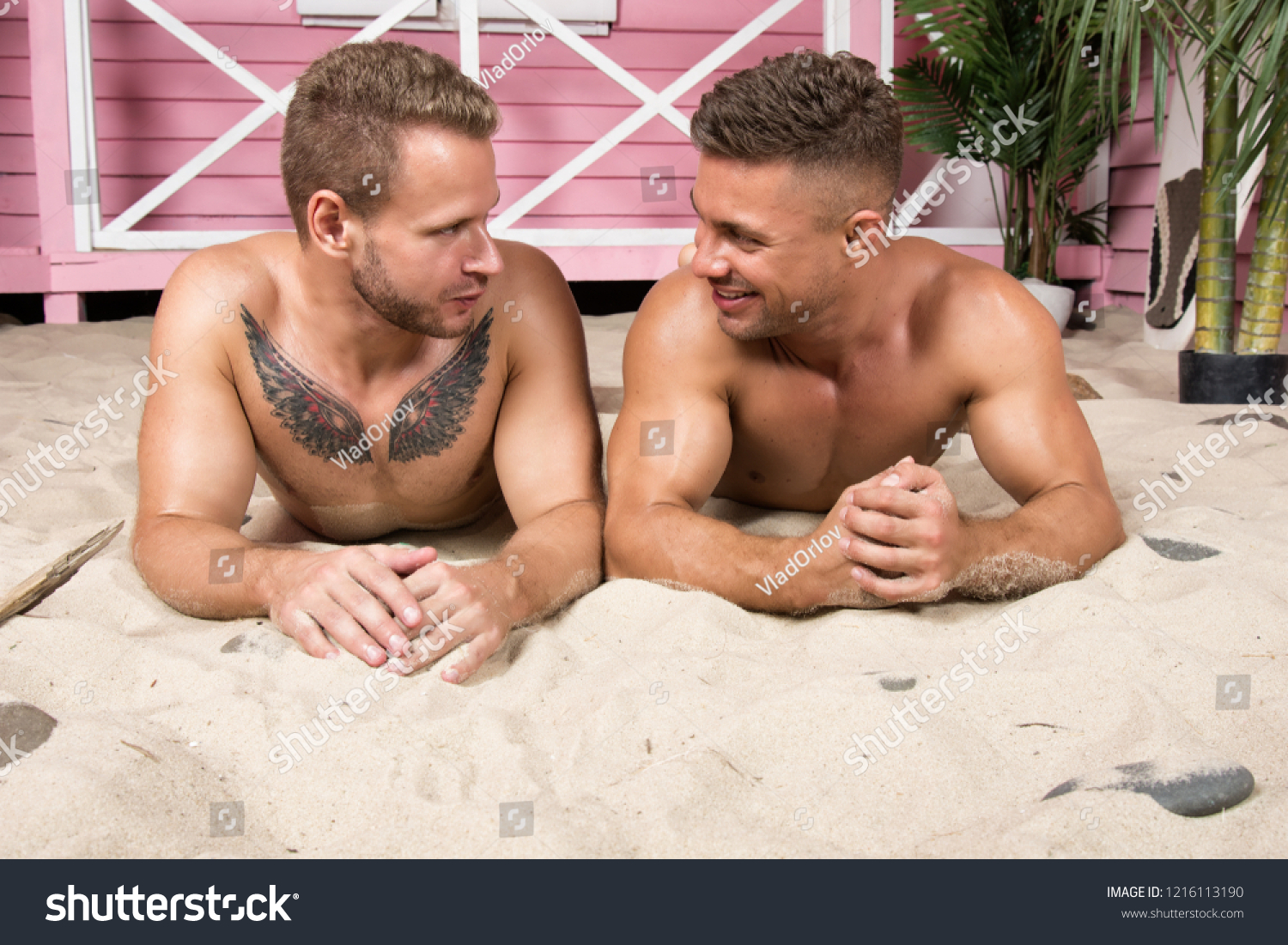 Two guys in vacation