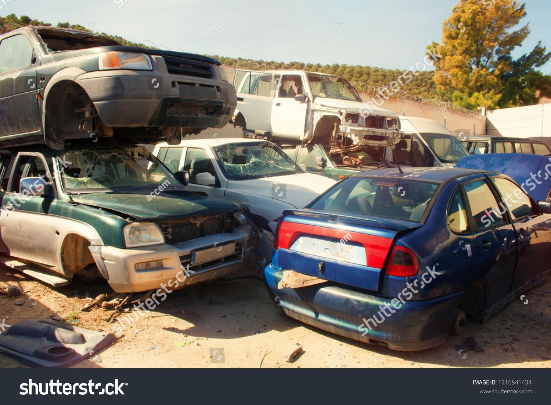 Graveyard Cars Broken Cars Sell On Stock Photo Edit Now 1216841434