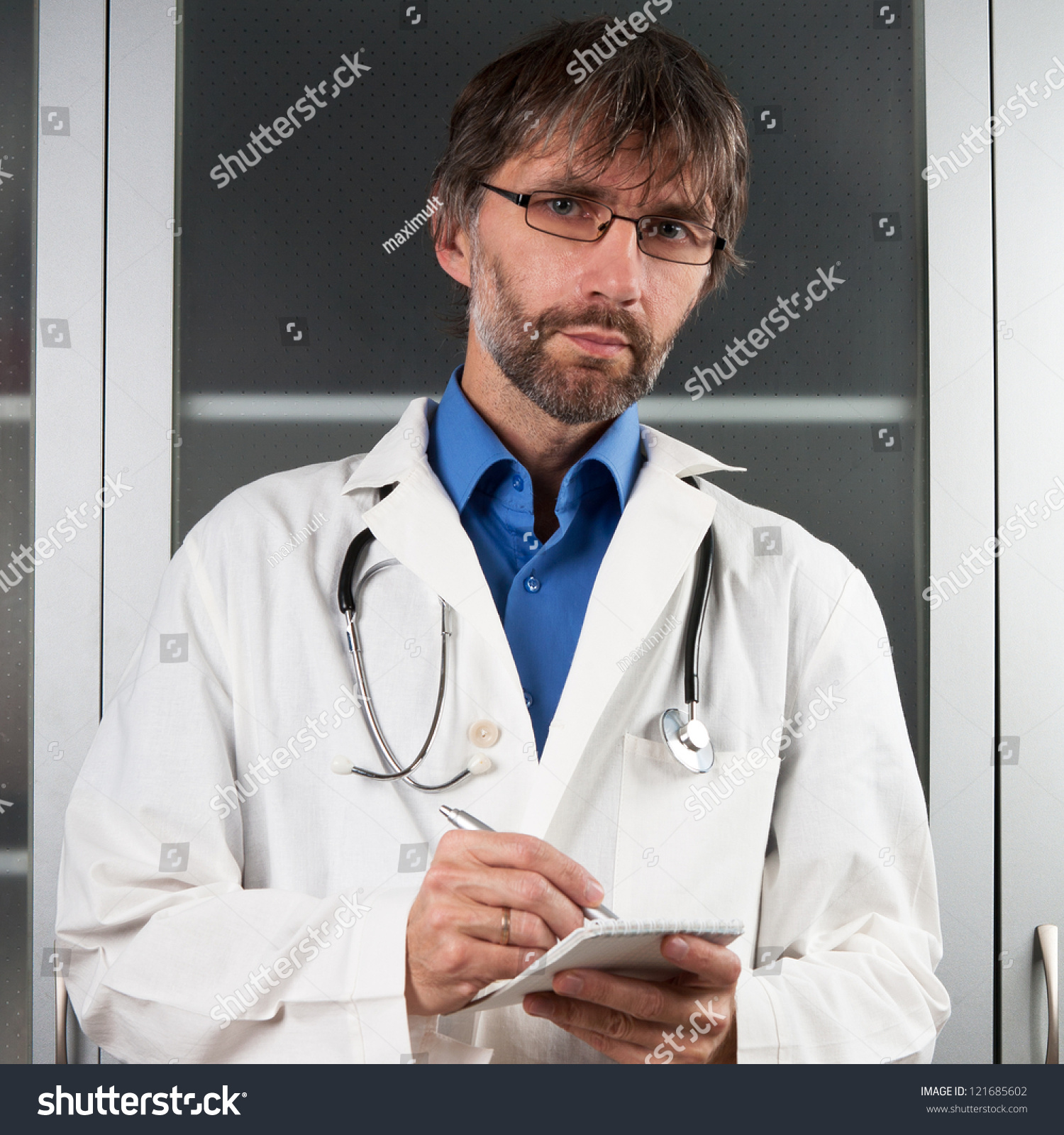 1362c85543f2 Doctor Writes Notebook Clinic Stock Photo (Edit Now) 121685602 ...