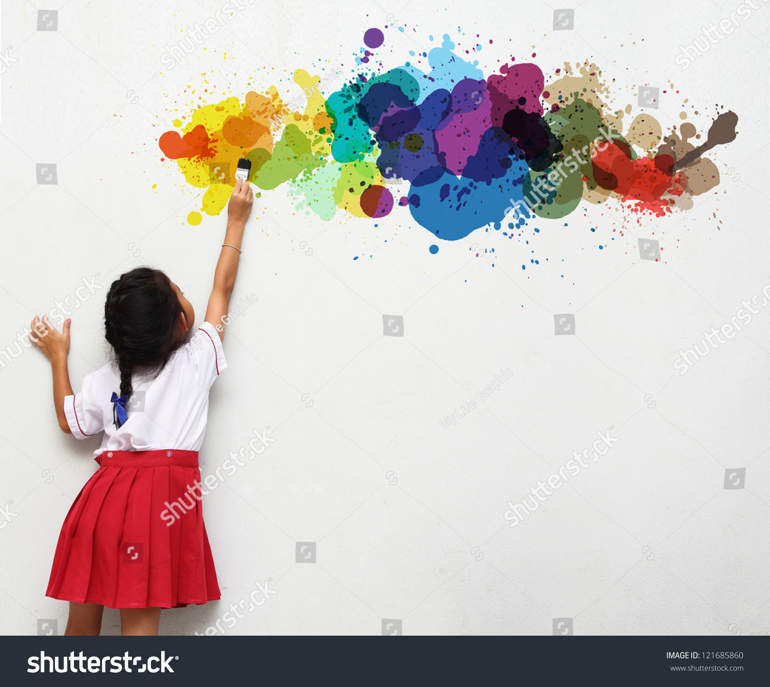 18yo chicks paint walls in their room and get involved cfnm 8