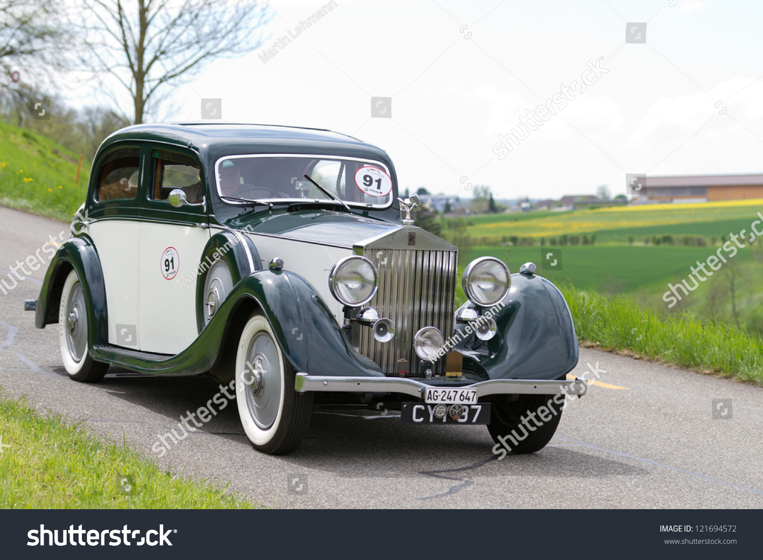 mutschellen switzerland april 29 vintage pre war race car rolls royce 25 30 from 1936 at grand. Black Bedroom Furniture Sets. Home Design Ideas