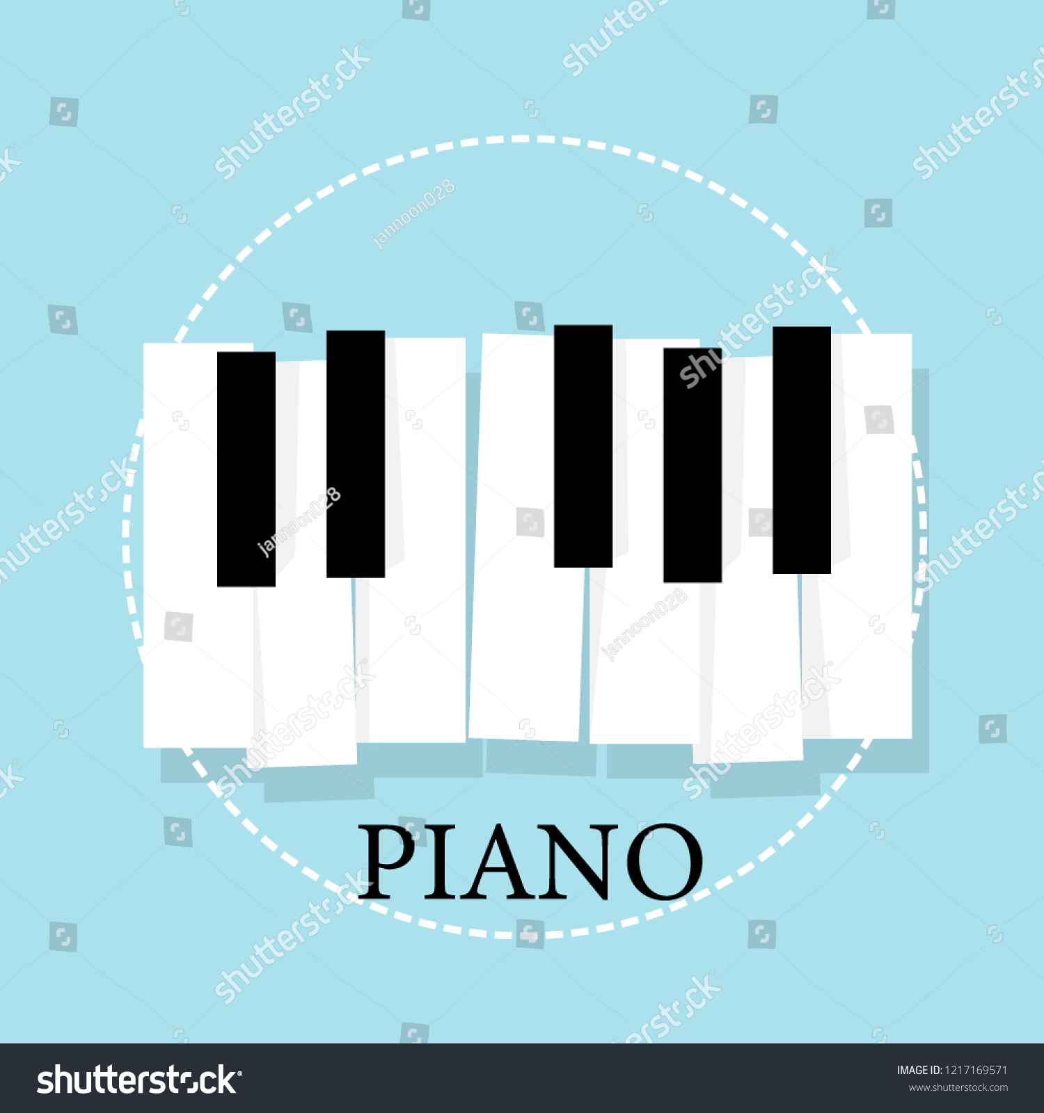 Music Piano Keyboard Poster Background Template