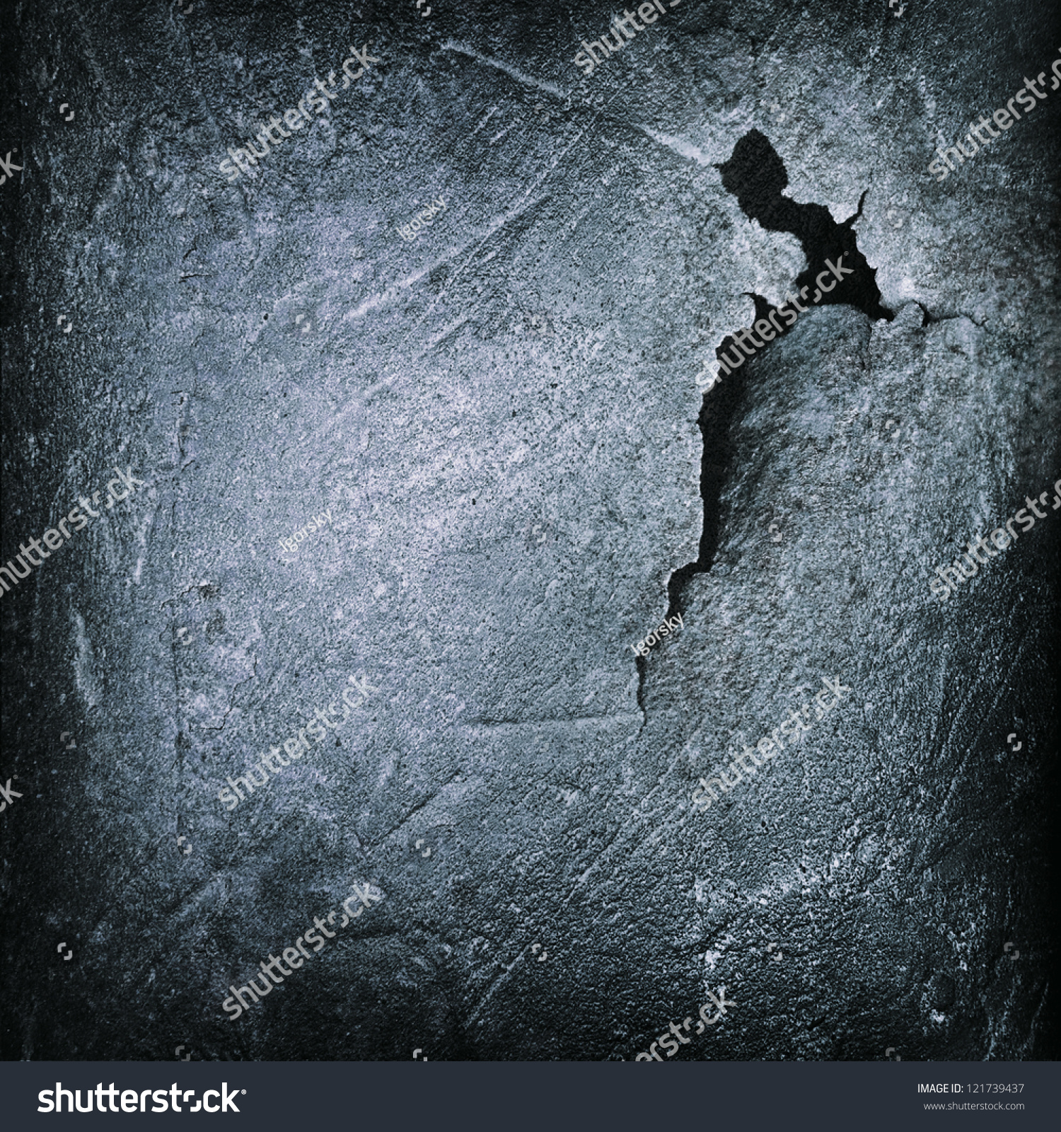 Crack black iron cast surface abstract stock illustration