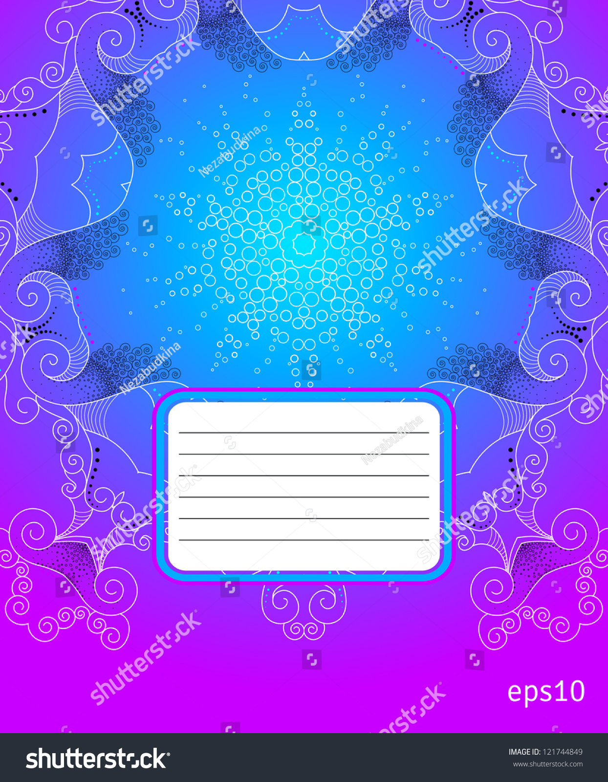 School Notebook Cover Design : The cover design for school notebook abstract
