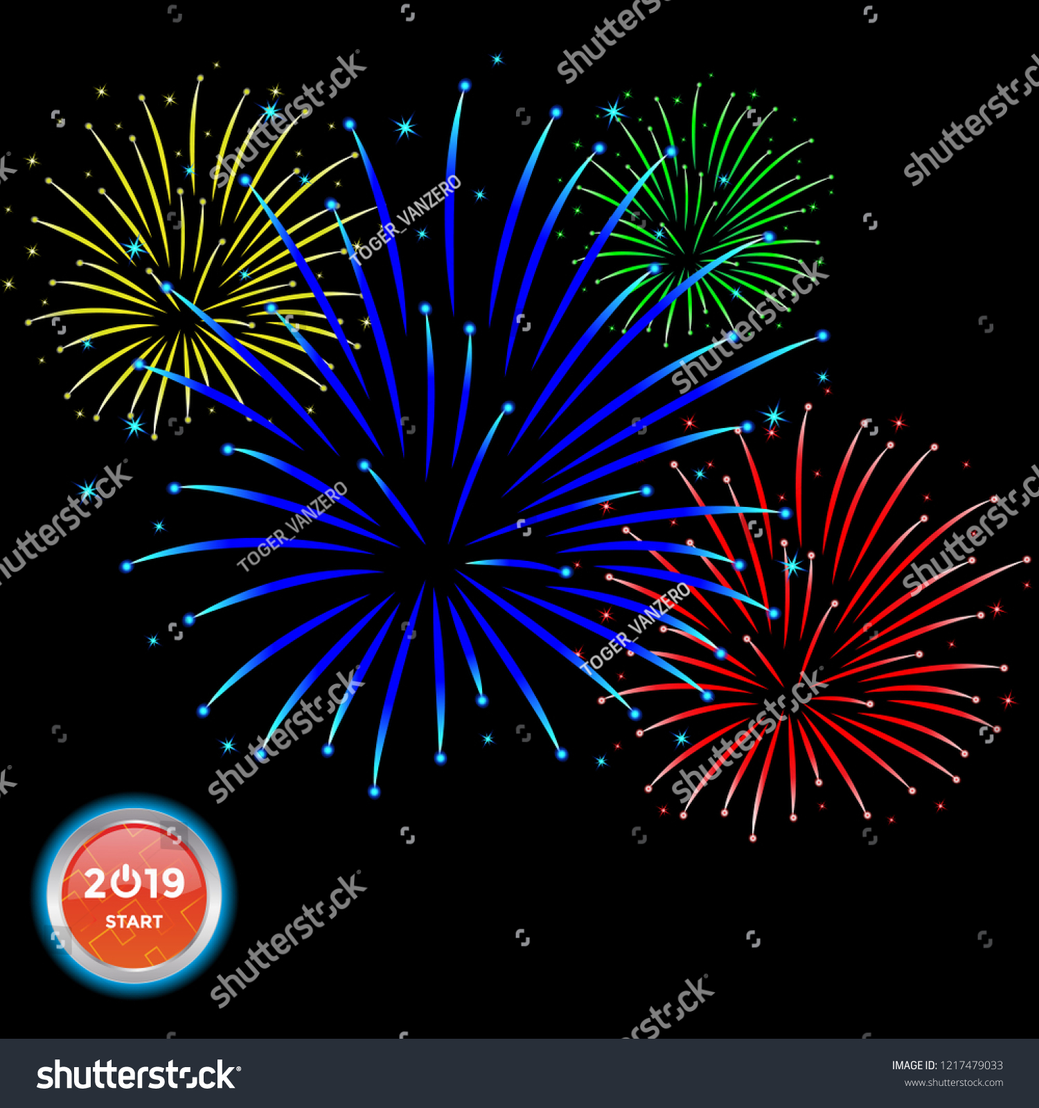 fireworks logo icon design template vector stock vector royalty
