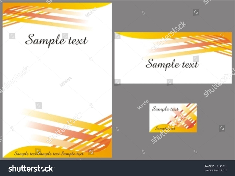 corporate identity design template vector memo stock vector corporate identity design template vector memo envelope and ing card