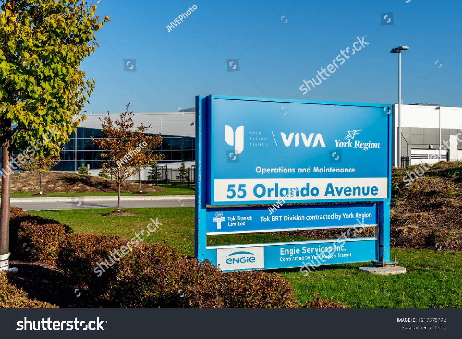 3bc9644e85d7 Richmond Hill, Ontario, Canada - October 30, 2018: Sign of York Region