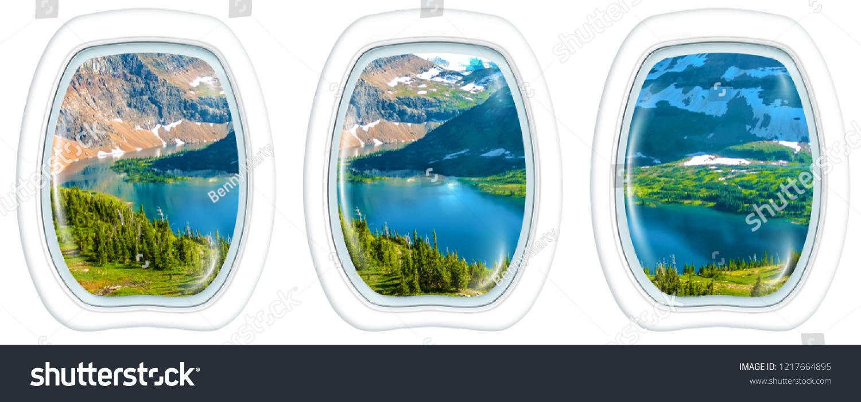 Three Porthole Frame Windows Aerial View Stock Photo Edit Now 1217664895