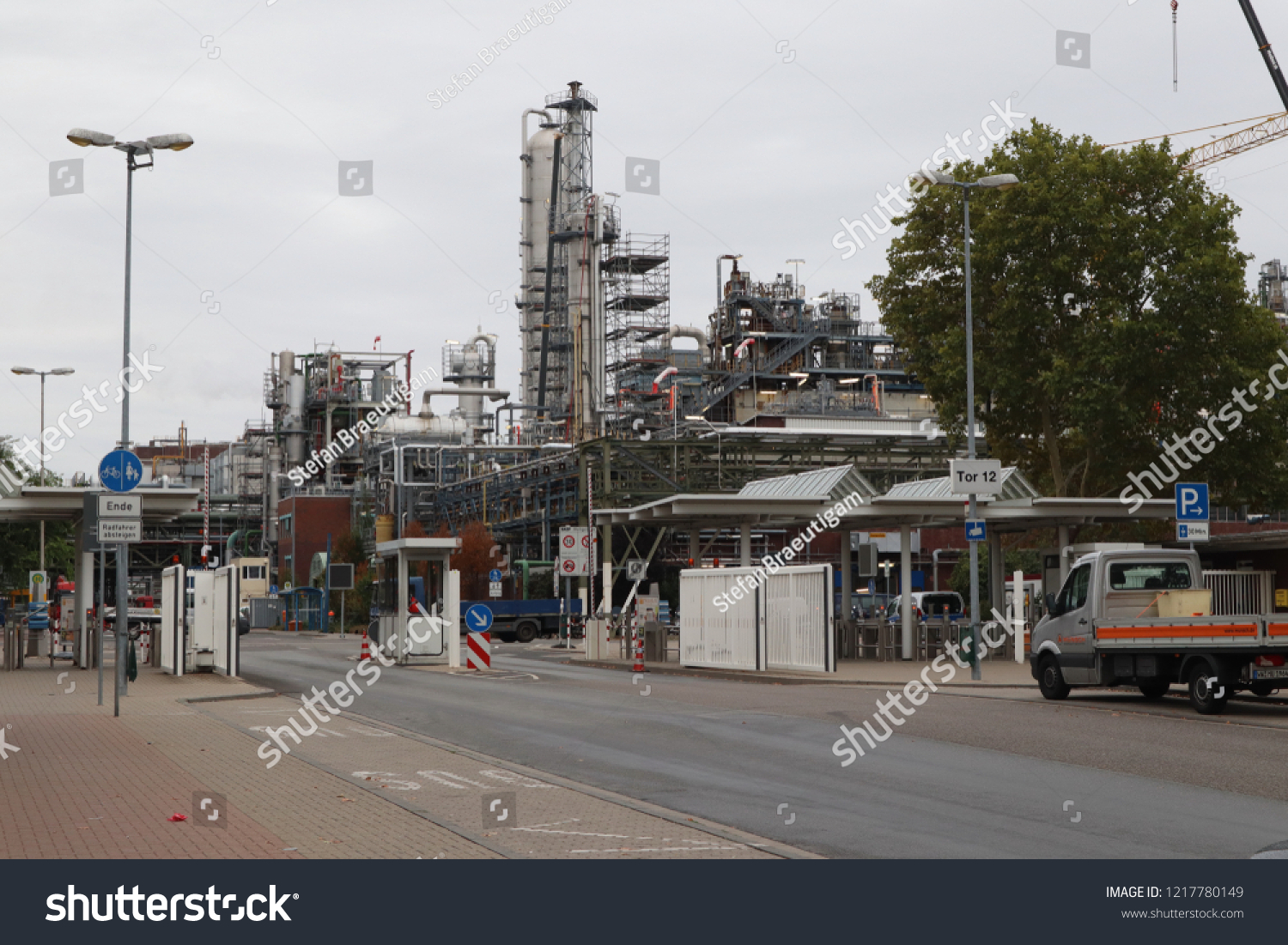 Ludwigshafen Germany August 25 2018 Gate Stock Photo (Edit