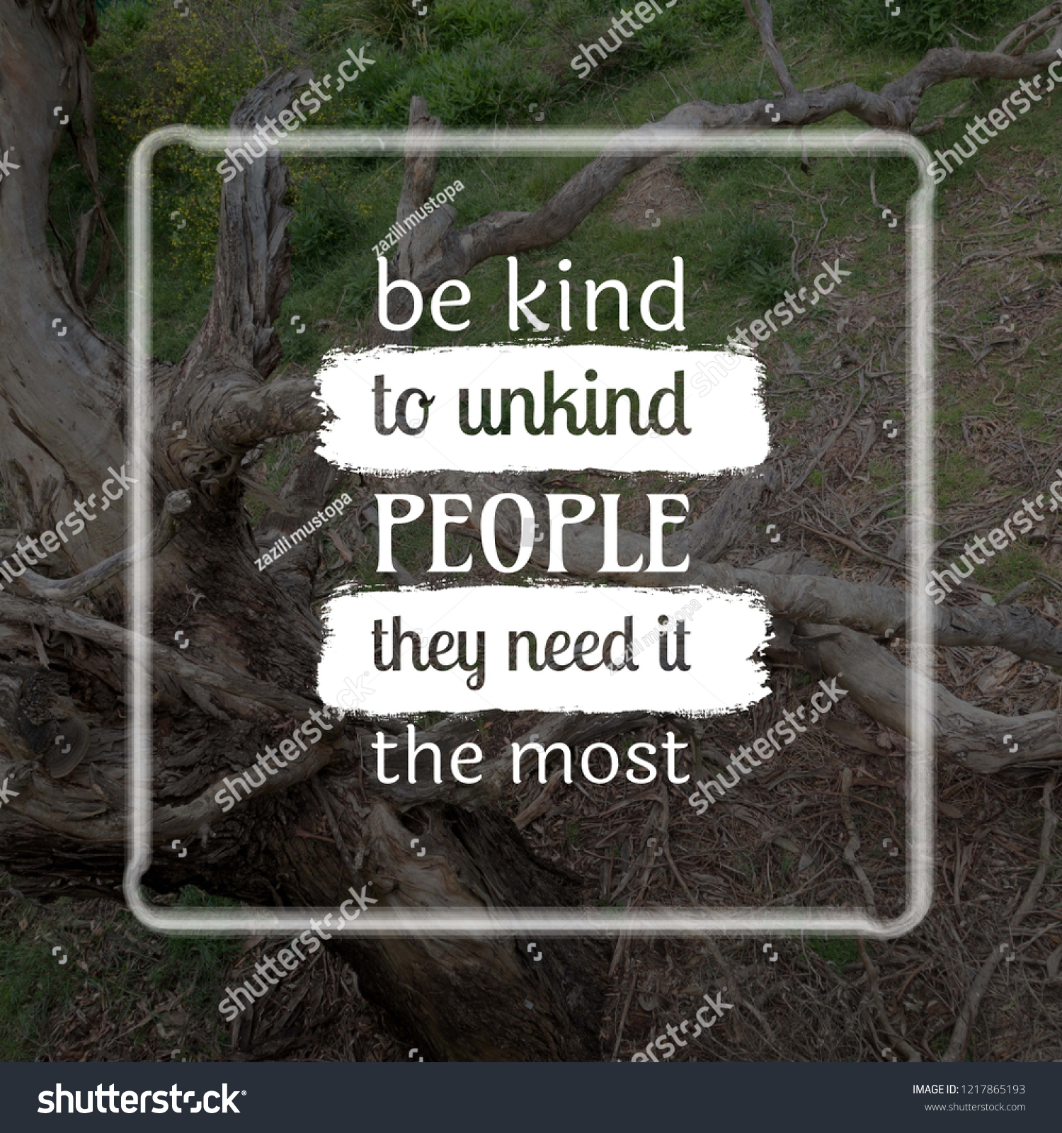 Be Kind Unkind People They Need Stock Photo Edit Now 1217865193