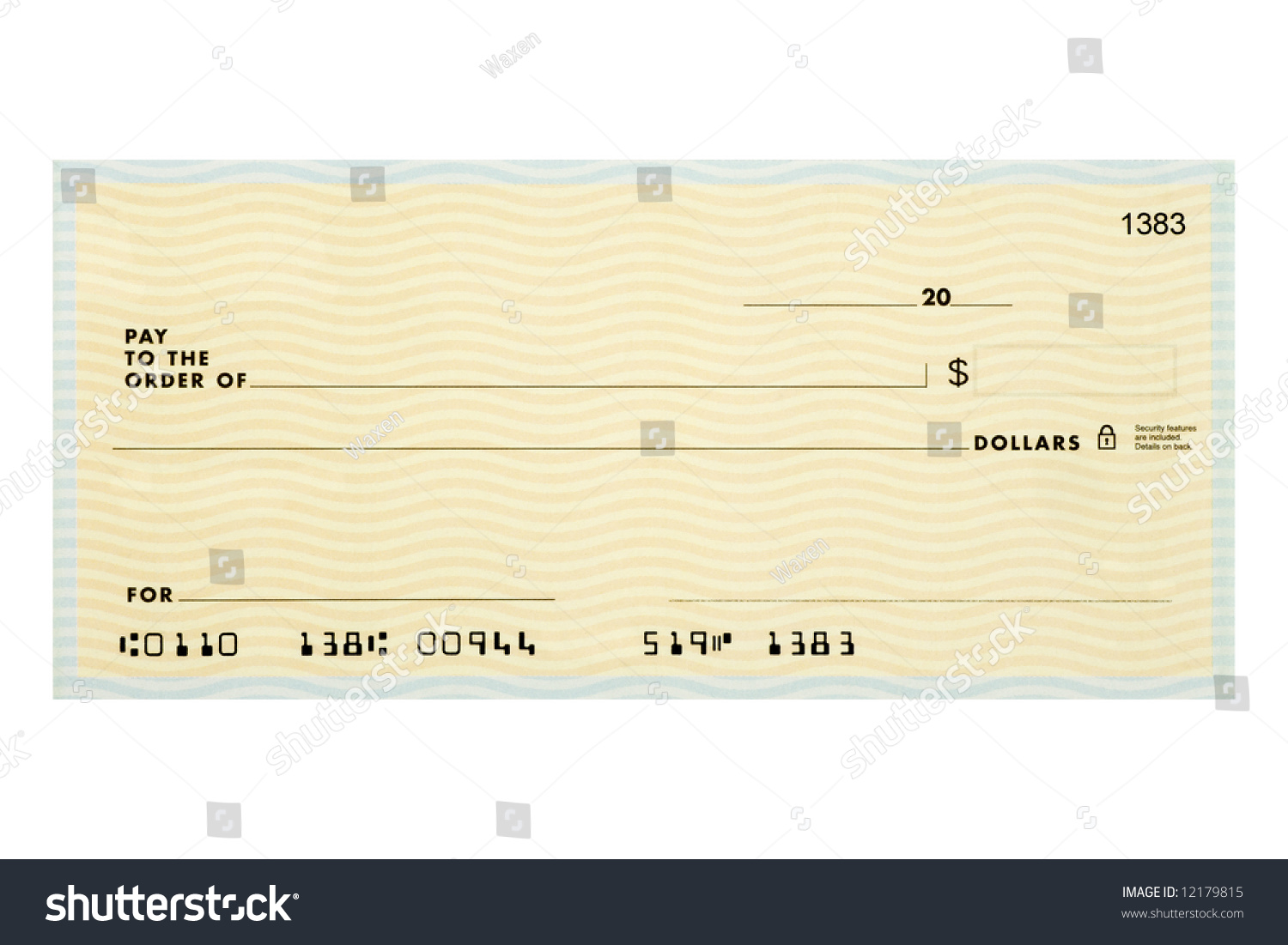 personal blank check without names addresses stock photo 12179815, Powerpoint templates