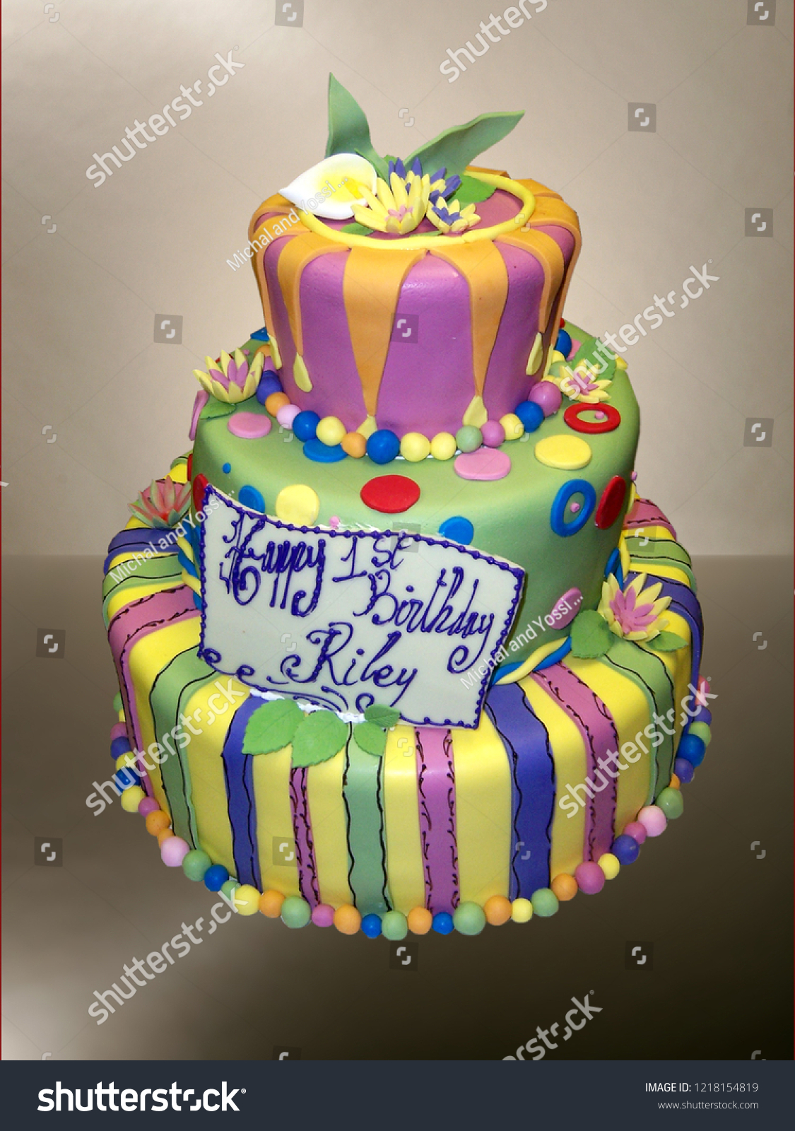 Superb 1 Year Old Birthday Cake Stock Photo Edit Now 1218154819 Funny Birthday Cards Online Aeocydamsfinfo